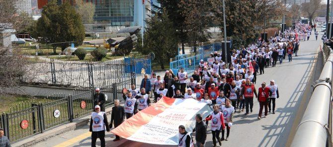 3 Mart Devrim Yasalarının Kabulünün 95.Yıl Dönümünde Anıtkabir'e yürüdük.